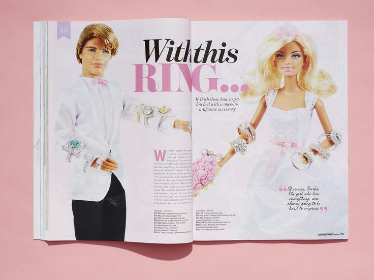 Cosmopolitan Bride, issue 39 www.cosmopolitanbride.com.au #engagementrings #love #wedding #cosmobride #barbieandken