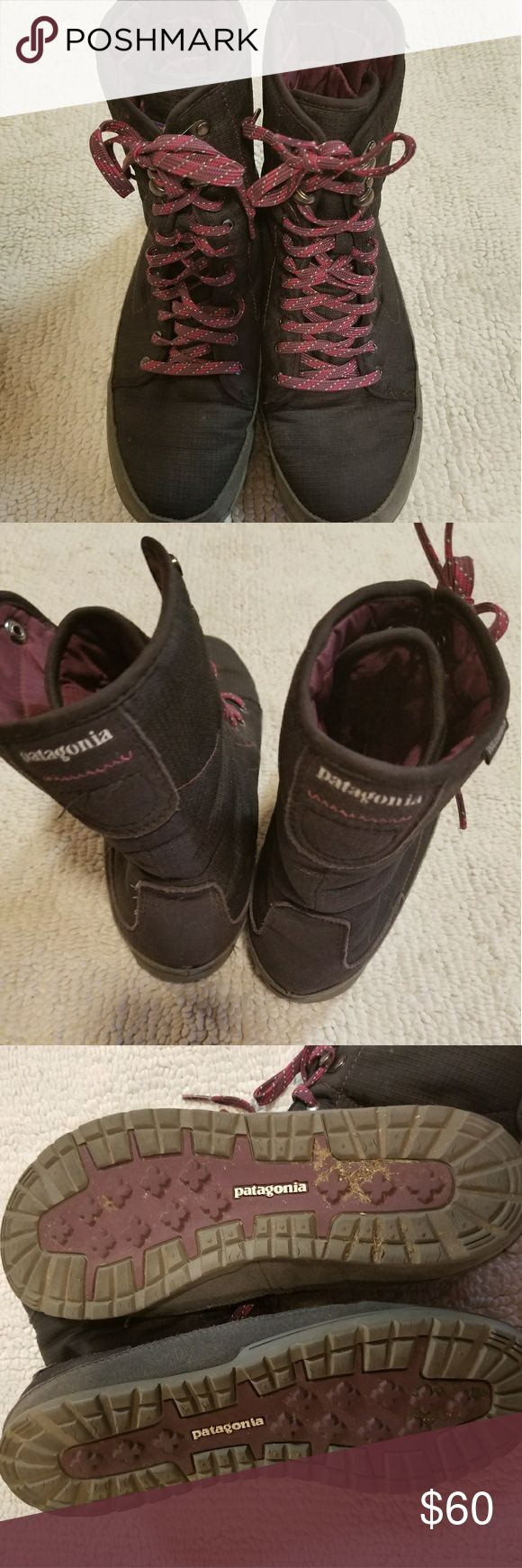 Patagonia Women Activist Puff High Waterproof SZ 8 Patagonia Women's Activist Puff High Waterproof Insulated size 8 Pre-owned, Patagonia Women's Activist Puff High Waterproof Insulated boots Size 8  Color- Black/Dark current  Waterproof Super lightweight 18 oz! Smoke-free home. $100+ on Amazon! Please see pictures for better description and don't hesitate to ask questions! Thanks for looking! Patagonia Shoes Winter & Rain Boots