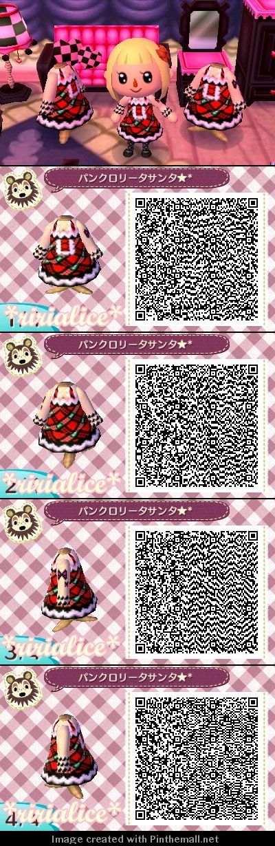Animal Crossing New Leaf Punk Lolita Santa Christmas QR code
