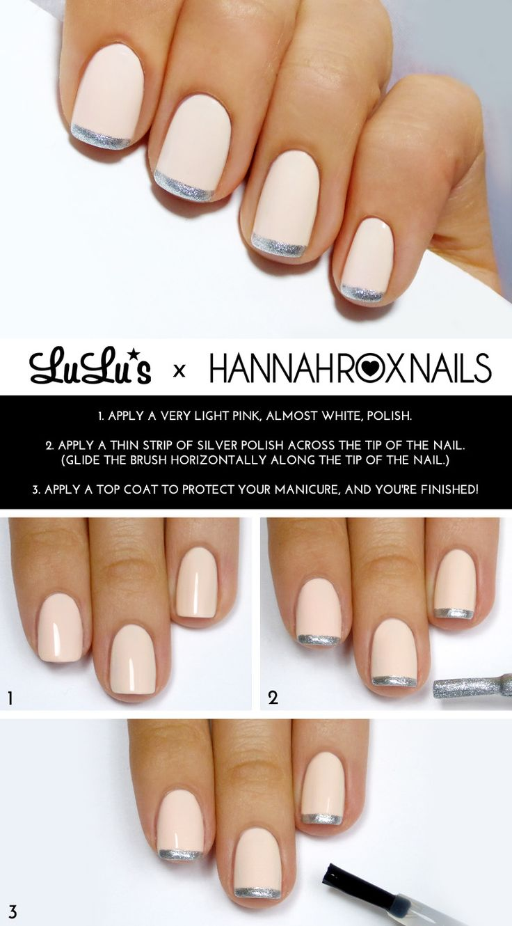 Don't forget the small details! Follow the steps given from LuLu's blog in order to create this manicure which is perfect for prom.