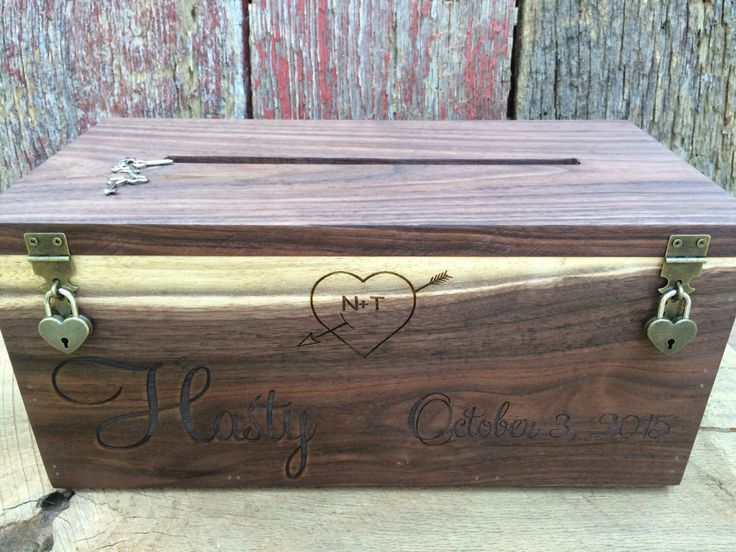 Wedding Card Box Rustic Gift