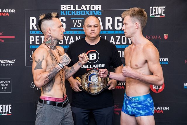 Bellator Kickboxing 10 Main Card Weigh In Results Featherweight World Title Bout Kevin Ross 144 8 Lbs Vs Gabriel Varga Kickboxing Bout Mixed Martial Arts