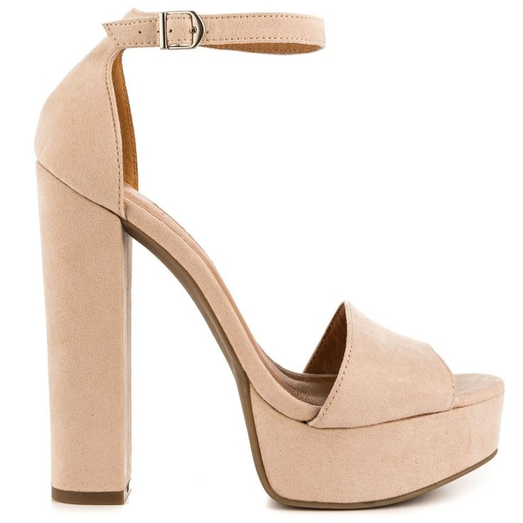 69.00$  Watch here - http://aliv7i.worldwells.pw/go.php?t=32582676237 - Beige Micro Suede Square Heel Adjustable Ankle Strap Chunky Heel Platform Women Sandal Open Toe Ladies Shoes Made-to-order US12