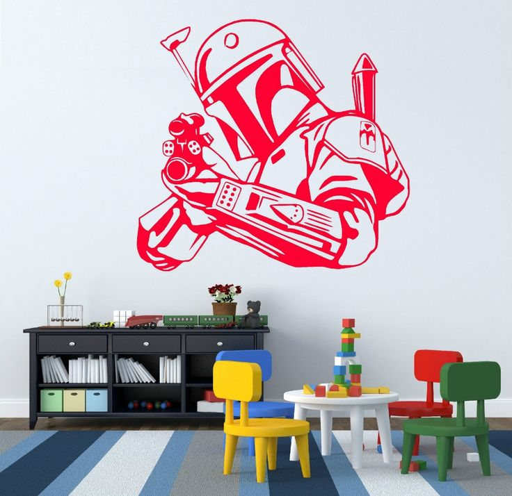 STAR WARS BOBBA FETT BOUNTY HUNTER vinyl wall art sticker decal Size 57*53cm -- Find out more about the great product at the image link.