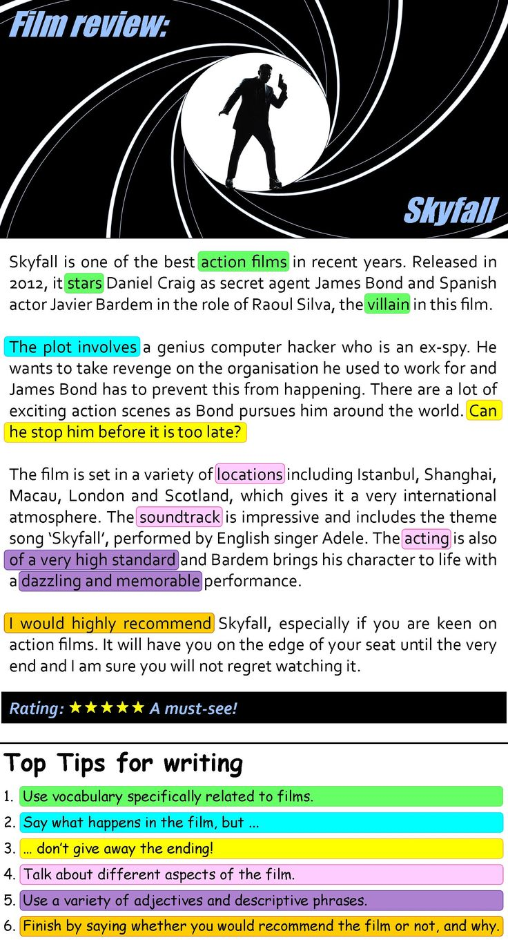 Skyfall film review | LearnEnglishTeens  || Ideas and inspiration for the teaching of GCSE English || www.gcse-english.com ||