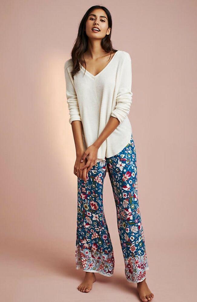 d45962b1c1ec NWT Anthropologie Lilka Ivy Vines Sleep Pants Lilka PS 2XS XS S L XL Retail  $48 #Anthropologie #LoungePantsSleepShorts