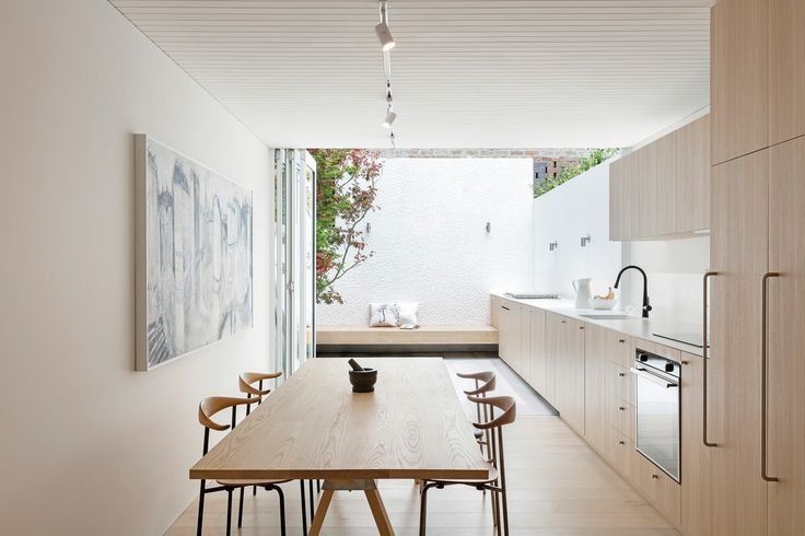 This refurbishment of a narrow terrace house presents the client with a light-filled, disciplined setting for life to unfold.