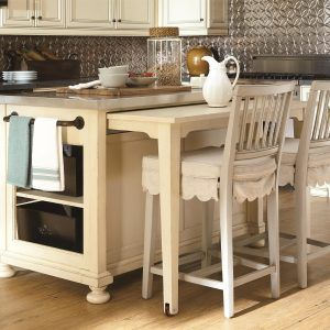 Kitchen Island With Slide Out Table