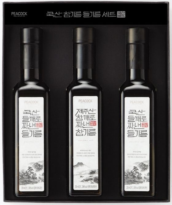 이마트, 제주도산 참기름 등 고급PL 선물세트 내놔(1702) - NSP통신 Peacock Korean Sesame oil