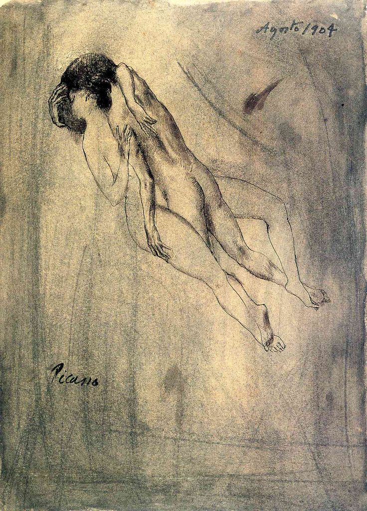 Drawing, Pablo Picasso, Lovers, 1904