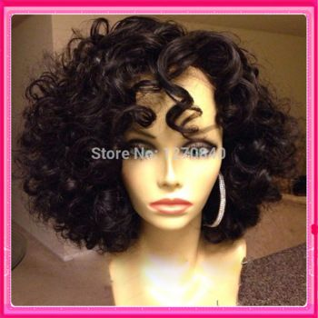 2015 New 7A Grade Short Human Hair Lace Wigs Curly Glueless Full Lacw Wig Retro HairstylesWeave HairstylesSummer HairstylesNatural