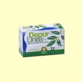 DepurLinea Tisana de Planta Médica.  20 bolsitas.  Las hierbas presentes en DepurLinea Tisana han sido seleccionadas por su actividad depurativa y drenante.  http://biomarket.cat/es/productos-herbarios/507-depurlinea-tisana-de-planta-medica.html