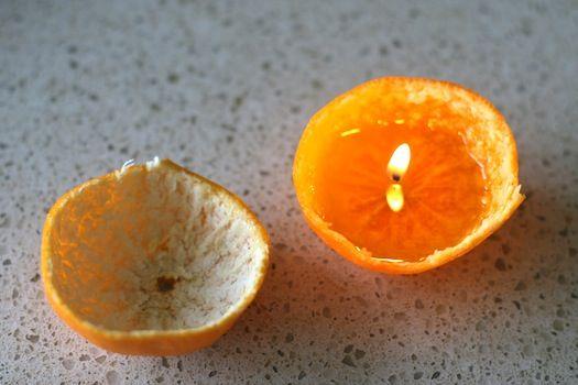 lamparas de naranjas