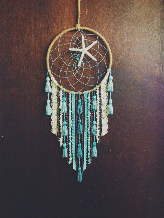 Starfish Beachy Dreamcatcher by catchingthesea on Etsy, $40.00