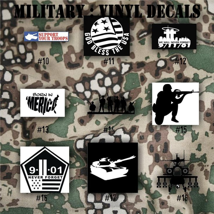 Military vinyl decals army air force navy and marines car decals window stickers personalized military decals