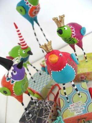 i really want to make one of these - me too!  from http://efemera-ink.blogspot.com/search/label/Birds