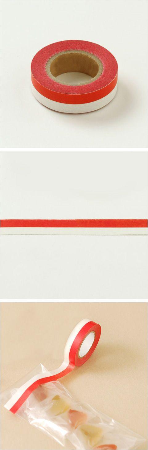 【紅白マスキングテープ(中川政七商店)】/おめでたい紅白の模様のマスキングテープ。封書に貼ったり、水引のようにもお使いいただけます。 #weddinggift #gifts