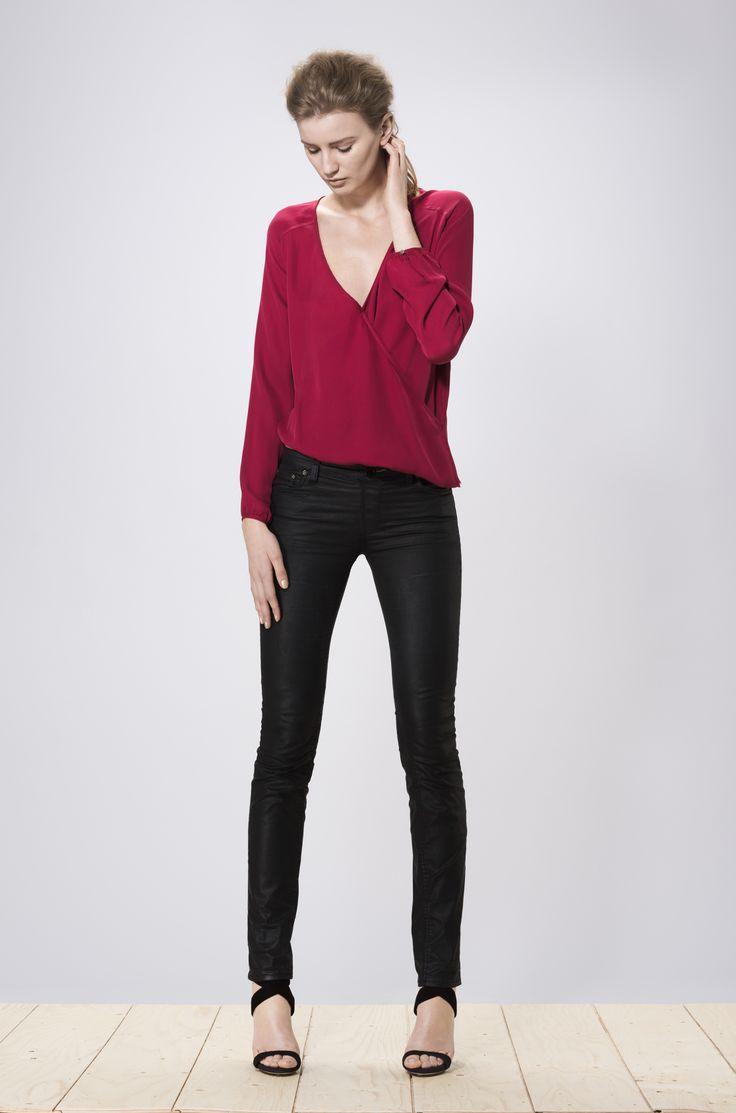 Hideko blouse burgundy