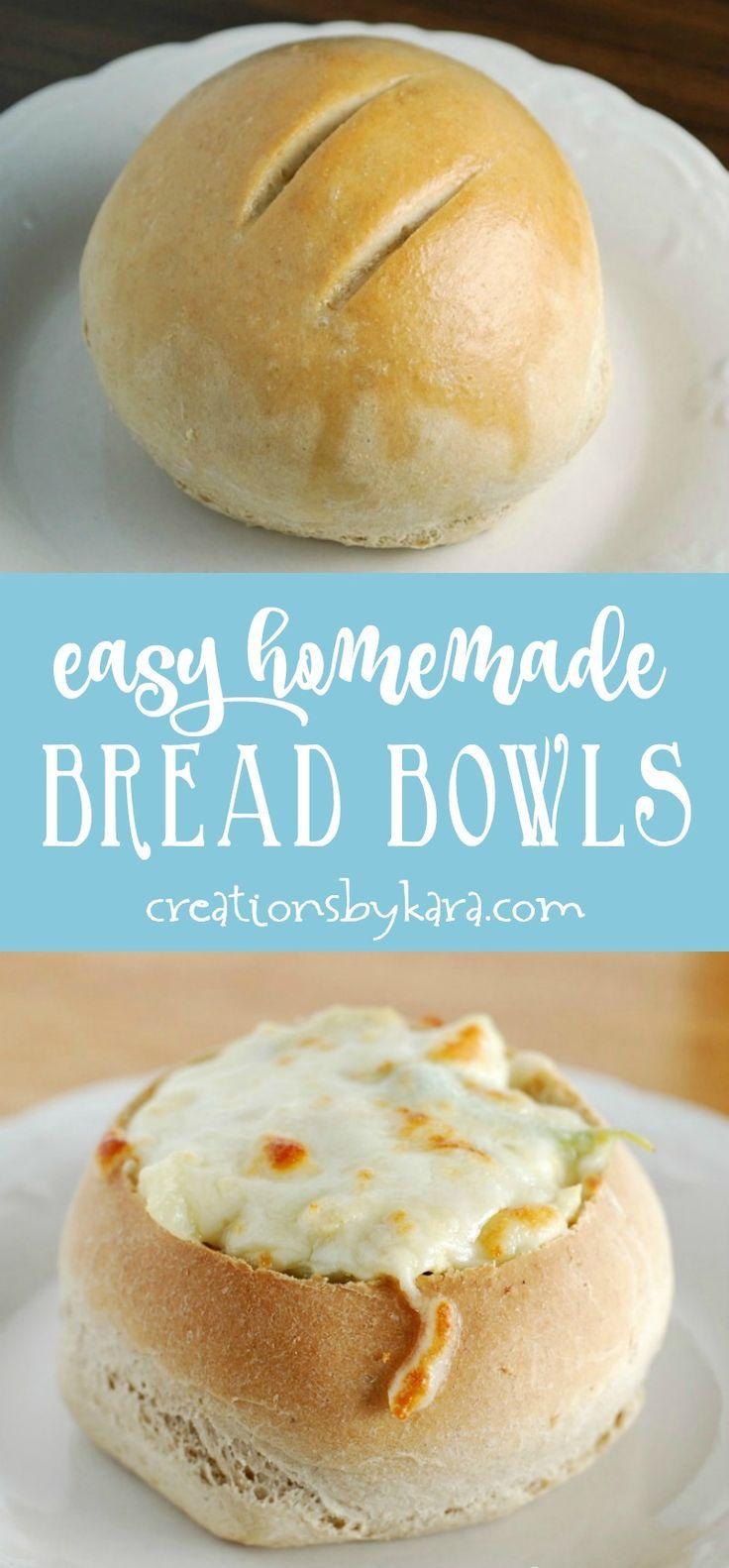 easy homemade bread bowls