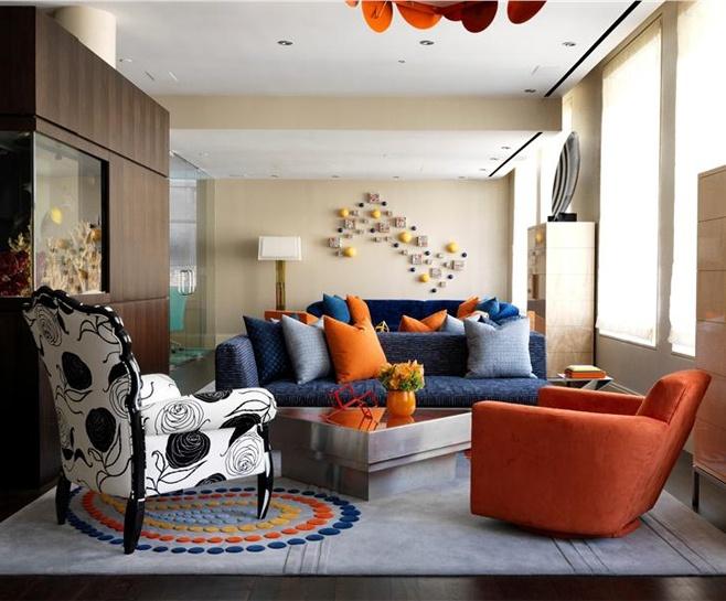 Best 25 blue orange rooms ideas on pinterest orange - Orange and blue living room ideas ...