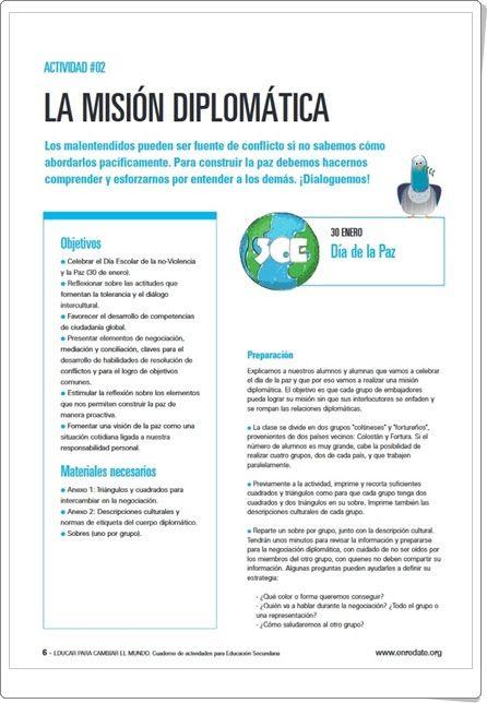 """""""La Misión Diplomática"""" (Educación Secundaria). Unicef."""