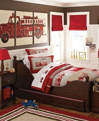 @Jessica Robles Check out this super cute Firetruck room!