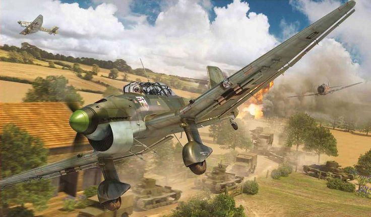 Junkers Ju 87B-1 Stuka, Battle of France, 1940, by Adam Tooby
