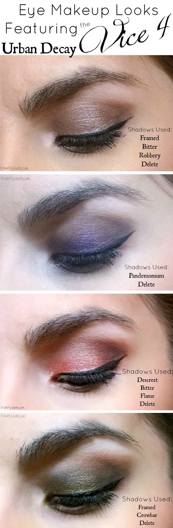 Urban Decay Vice 4 Palette // 4 Vivid Eye Makeup Looks Featuring Vice4
