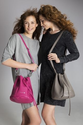 Miss Fancy  The model, which was designed for teenagers ... it turned out that not only for them…  Despite its appearance, will accommodate a lot of things. The bag is perfect for a weekend or informal meetings with friends. As all of our models, it is made with the utmost care. It has our silver embossed logo in the front,  thin, viscose lining inside and strap with adjustable length. Silver Italian fittings give it exceptional character.