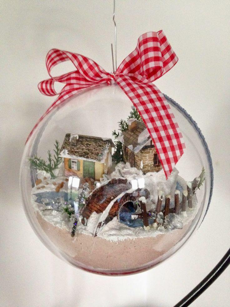 ozdoba świąteczna, szklana bombka // 3d christmas ornament #xmas #decorations