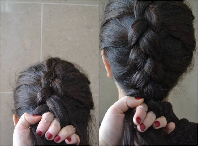 How To: Inverted French Braid Hair Tutorial