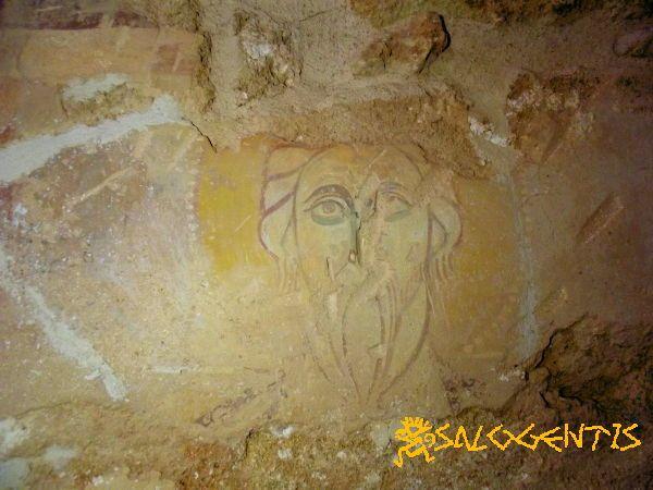 Affreschi nella cappella di San Lasi (San Biagio) a Salve. Particolare con San Andrea.