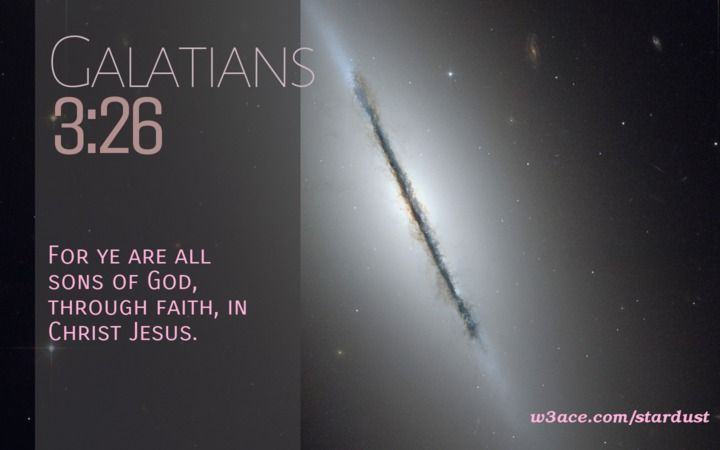 Bible Quote Galatians 3:26 Inspirational Hubble Space Telescope Image