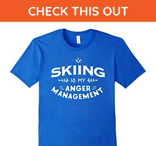 Mens Skier Funny T Shirt : Skiing is my anger management Large Royal Blue - Sports shirts (*Amazon Partner-Link)