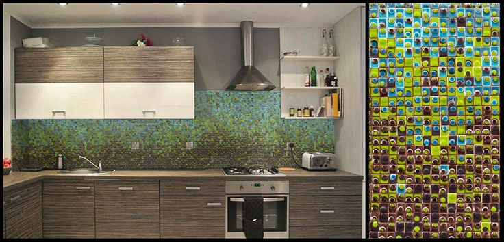 MOSAIC COMPOSITION  Ceramic tiles project. Private apartment. Wroclaw, Poland.