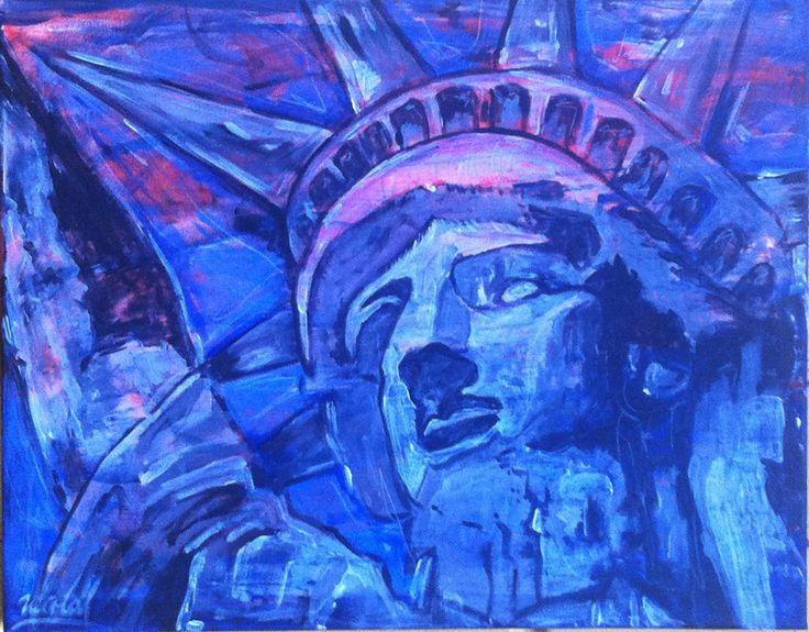 Estatua de la libertad Acrílico 40x50 cm