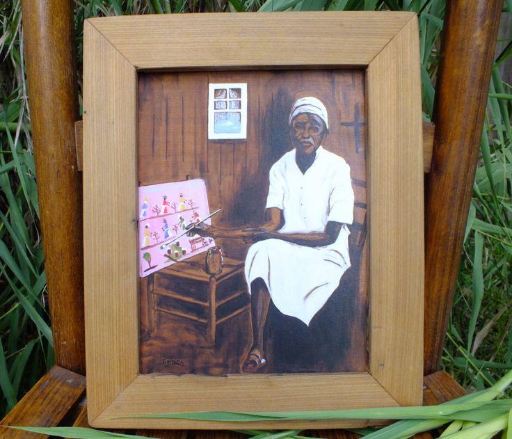Clementine Hunter Paints | Louisiana art print | African American art | Folk art| 8x10 or 11x14 in. by SenecaArtistStudio on Etsy