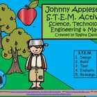 $ - Johnny Appleseed S.T.E.M. (Science, Technology, Engineering, and Math) activity for Kindergarten and First Grade.  Enjoy! Regina Davis aka Queen Chaos at Fairy Tales And Fiction By 2.
