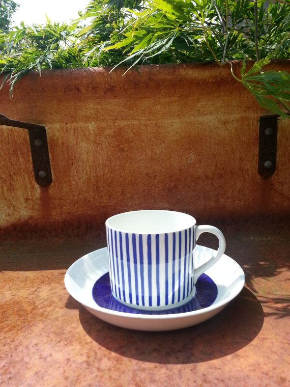 Rorstrand Sweden Kadett blå cup and saucer.. by fcollectables, €30.00