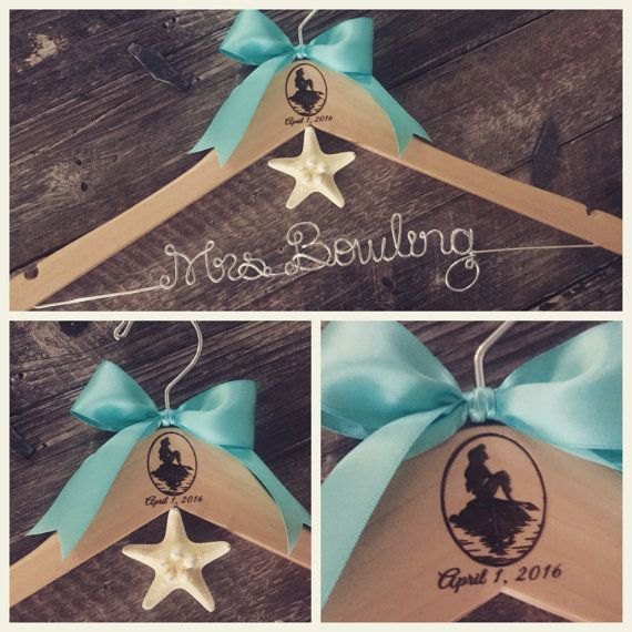 Disney Wedding Ariel Princess Hanger Disney Bride by GetHungUp
