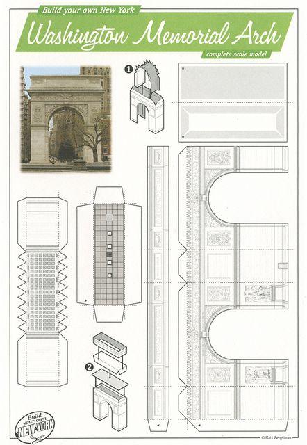 Washington Memorial Arch, New York - Cut Out Postcard by Shook Photos, via Flickr