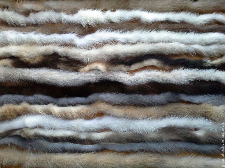 Купить Меховая нить из норки. - чёрный, коричневый, меховая нить, меховая пряжа, мех