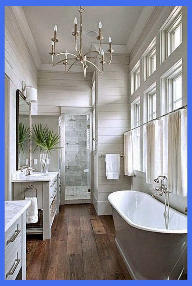 20 Amazing Farmhouse Bathrooms With Rustic Warm Master Bathroom Layout Master Bathroom Farmhouse Master Bathroom Bathrooms Remodel Master Bathroom Design