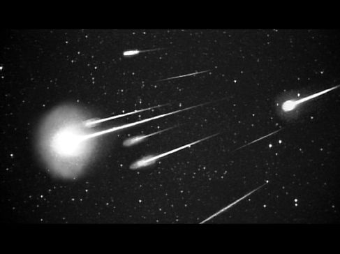 Leonid Meteor Shower -   Meteor showers are usually caused by debris coming from comets flying by the Sun. In the case of the Leonid Meteor Shower, the debris is shed by the Comet Tempel-Tuttle.