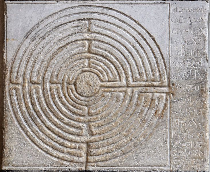 """""""This is the labyrinth built by Dedalus of Crete; all who entered therein were lost, save Theseus, thanks to Ariadne's thread."""""""