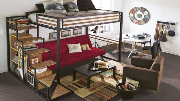 Comment Amenager Une Chambre Avec Mezzanine Small Room Bedroom