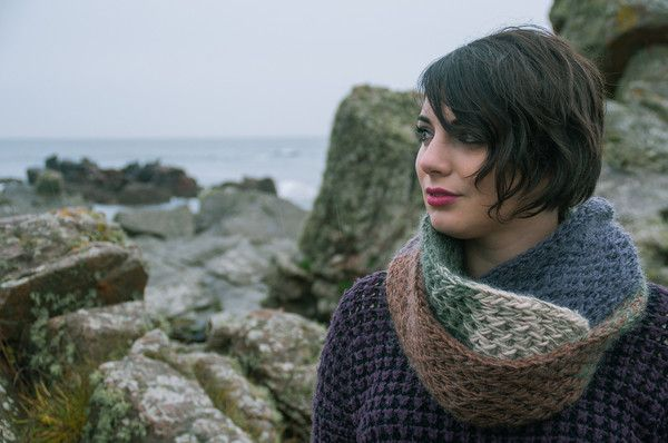 "Fernweh UK ""GAOITHE"" Hand Knit Luxury Alpaca/Mohair Knit Scarf"