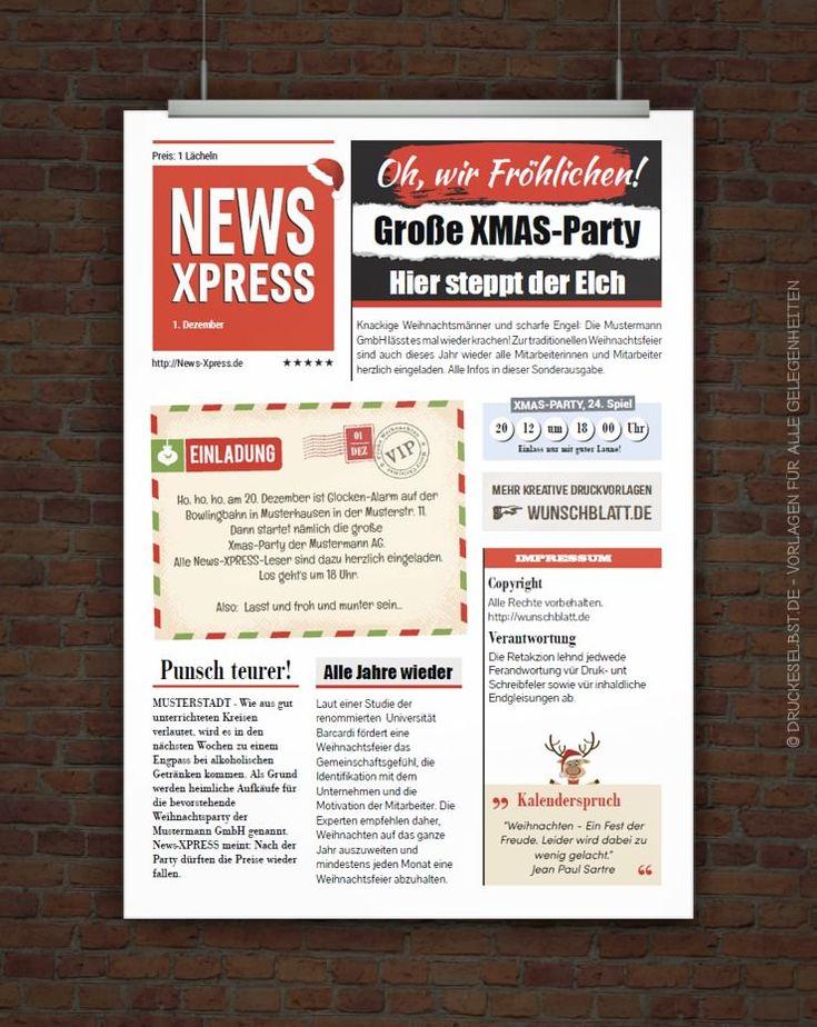 kostenlose weihnachtsfeiereinladung mit lustigem einladungstext, Einladungen