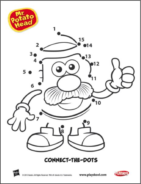Help connect the dots to reveal your favorite tater! Playskool, Mr. Potato Head, Activity, Kids, Toys