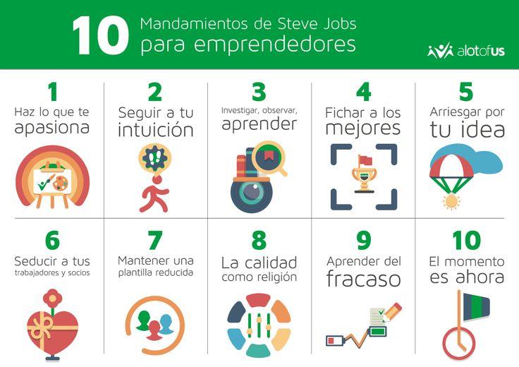 10 mandamientos de Steve Jobs para #emprendedores. #empresas #startups #liderazgo #stevejobs #abogado